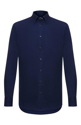 Мужская хлопковая рубашка ZILLI SPORT синего цвета, арт. MFU-45100-301804/0016/17/18/19/20 | Фото 1