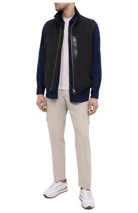 Мужская хлопковая рубашка ZILLI SPORT синего цвета, арт. MFU-45100-301804/0016/17/18/19/20 | Фото 2