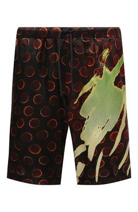 Мужские шорты из вискозы DRIES VAN NOTEN коричневого цвета, арт. 211-20945-2074 | Фото 1