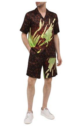 Мужские шорты из вискозы DRIES VAN NOTEN коричневого цвета, арт. 211-20945-2074 | Фото 2