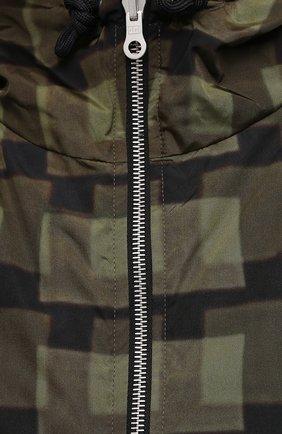 Мужская куртка DRIES VAN NOTEN хаки цвета, арт. 211-20509-2133   Фото 5 (Кросс-КТ: Куртка, Ветровка; Рукава: Длинные; Длина (верхняя одежда): До середины бедра; Материал внешний: Синтетический материал; Стили: Гранж; Принт: С принтом; Материал подклада: Синтетический материал)
