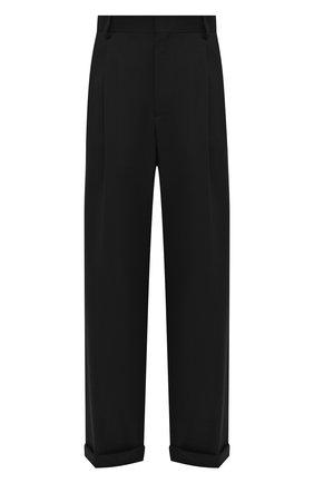 Мужские шерстяные брюки CASABLANCA черного цвета, арт. MS21-TR-008 BLACK | Фото 1