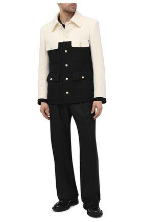 Мужские шерстяные брюки CASABLANCA черного цвета, арт. MS21-TR-008 BLACK | Фото 2