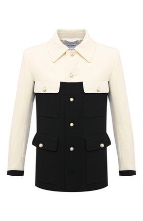 Мужской шерстяной пиджак CASABLANCA черно-белого цвета, арт. MS21-JK-034 WHITE/BLACK | Фото 1