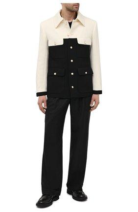 Мужской шерстяной пиджак CASABLANCA черно-белого цвета, арт. MS21-JK-034 WHITE/BLACK | Фото 2