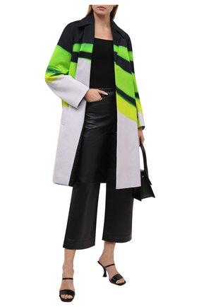Женское хлопковое пальто DRIES VAN NOTEN разноцветного цвета, арт. 211-30232-2142 | Фото 2