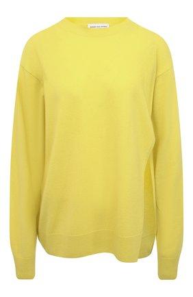 Женский кашемировый пуловер DRIES VAN NOTEN желтого цвета, арт. 211-31280-2704 | Фото 1