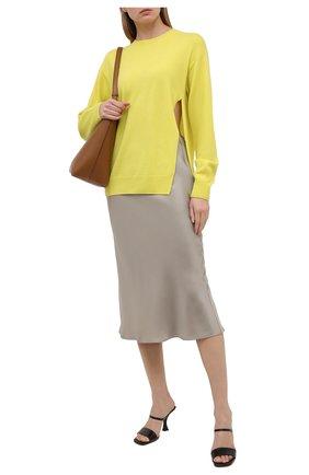 Женский кашемировый пуловер DRIES VAN NOTEN желтого цвета, арт. 211-31280-2704 | Фото 2