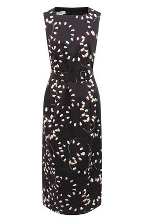 Женское платье из хлопка DRIES VAN NOTEN черного цвета, арт. 211-31079-2093 | Фото 1