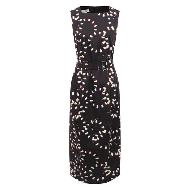 Платье из хлопка Dries Van Noten