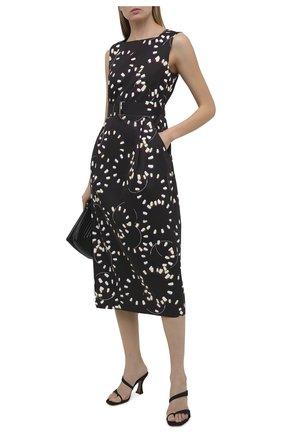 Женское платье из хлопка DRIES VAN NOTEN черного цвета, арт. 211-31079-2093 | Фото 2