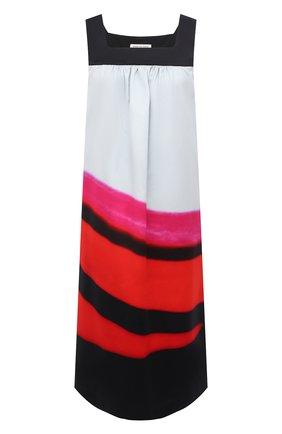 Женское хлопковое платье DRIES VAN NOTEN красного цвета, арт. 211-31076-2142 | Фото 1