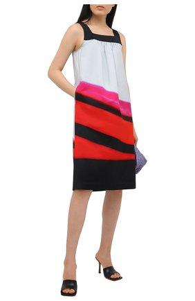 Женское хлопковое платье DRIES VAN NOTEN красного цвета, арт. 211-31076-2142 | Фото 2