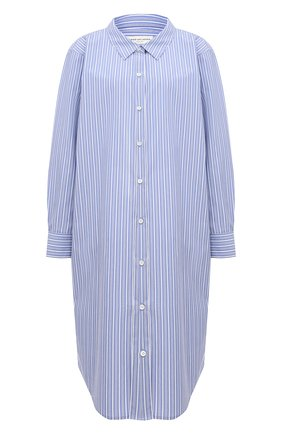 Женское хлопковое платье DRIES VAN NOTEN голубого цвета, арт. 211-31057-2160 | Фото 1