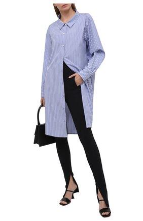 Женское хлопковое платье DRIES VAN NOTEN голубого цвета, арт. 211-31057-2160 | Фото 2