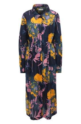 Женское хлопковое платье DRIES VAN NOTEN темно-синего цвета, арт. 211-31031-2084 | Фото 1