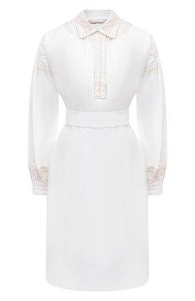 Женское хлопковое платье DRIES VAN NOTEN белого цвета, арт. 211-31027-2296 | Фото 1