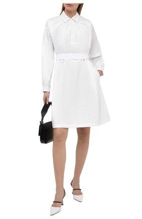 Женское хлопковое платье DRIES VAN NOTEN белого цвета, арт. 211-31027-2296 | Фото 2