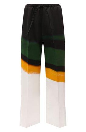 Женские хлопковые брюки DRIES VAN NOTEN разноцветного цвета, арт. 211-30970-2143 | Фото 1