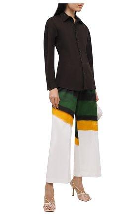 Женские хлопковые брюки DRIES VAN NOTEN разноцветного цвета, арт. 211-30970-2143 | Фото 2