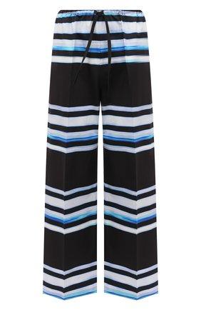 Женские хлопковые брюки DRIES VAN NOTEN темно-синего цвета, арт. 211-30970-2094 | Фото 1