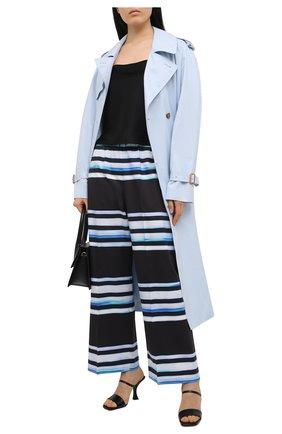 Женские хлопковые брюки DRIES VAN NOTEN темно-синего цвета, арт. 211-30970-2094 | Фото 2