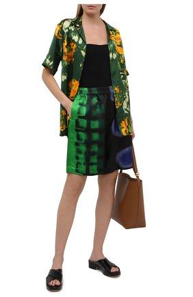 Женские шорты из вискозы DRIES VAN NOTEN разноцветного цвета, арт. 211-30954-2068 | Фото 2