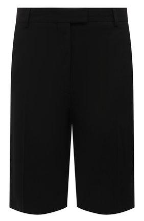Женские шорты из смеси хлопка и вискозы DRIES VAN NOTEN черного цвета, арт. 211-30906-2109 | Фото 1