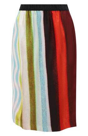 Женская юбка из вискозы DRIES VAN NOTEN разноцветного цвета, арт. 211-30833-2092 | Фото 1