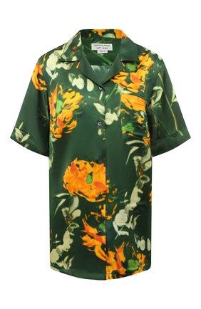 Женская блузка из смеси вискозы и шелка DRIES VAN NOTEN зеленого цвета, арт. 211-30784-2089 | Фото 1