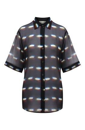 Женская шелковая блузка DRIES VAN NOTEN черного цвета, арт. 211-30782-2088 | Фото 1