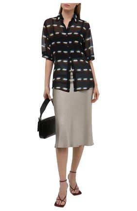 Женская шелковая блузка DRIES VAN NOTEN черного цвета, арт. 211-30782-2088 | Фото 2