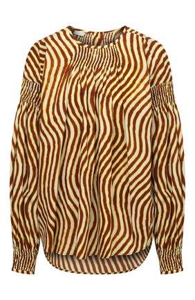 Женская блузка из хлопка DRIES VAN NOTEN коричневого цвета, арт. 211-30777-2009 | Фото 1