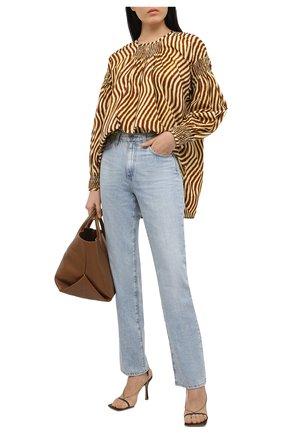 Женская блузка из хлопка DRIES VAN NOTEN коричневого цвета, арт. 211-30777-2009 | Фото 2