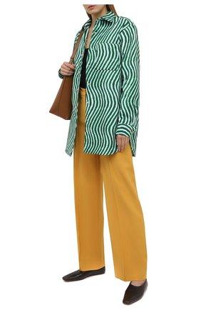 Женская хлопковая рубашка DRIES VAN NOTEN зеленого цвета, арт. 211-30731-2009 | Фото 2