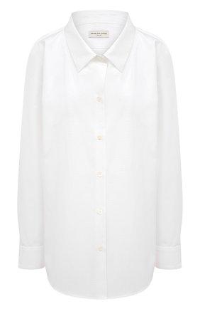 Женская хлопковая рубашка DRIES VAN NOTEN белого цвета, арт. 211-30719-2228 | Фото 1