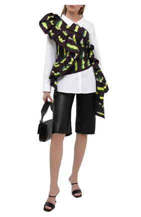 Женская хлопковая рубашка DRIES VAN NOTEN белого цвета, арт. 211-30719-2228 | Фото 2