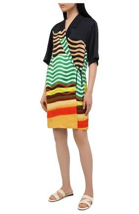 Женское платье из вискозы DRIES VAN NOTEN разноцветного цвета, арт. 211-30713-2092 | Фото 2