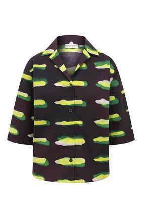 Женская хлопковая рубашка DRIES VAN NOTEN черного цвета, арт. 211-30704-2005 | Фото 1