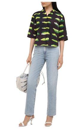 Женская хлопковая рубашка DRIES VAN NOTEN черного цвета, арт. 211-30704-2005 | Фото 2