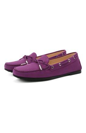 Женские замшевые мокасины TOD'S фиолетового цвета, арт. XXW74B0503006S | Фото 1