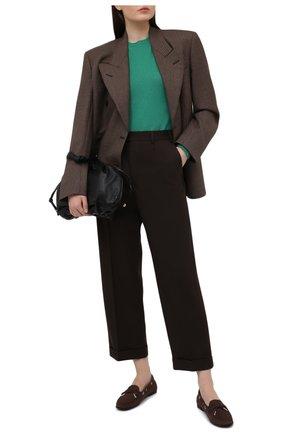 Женские замшевые мокасины TOD'S темно-коричневого цвета, арт. XXW74B0503006S | Фото 2