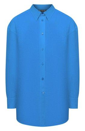 Женская льняная рубашка LORO PIANA синего цвета, арт. FAL5890 | Фото 1