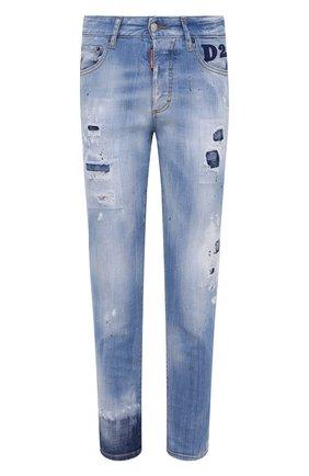 Женские джинсы DSQUARED2 голубого цвета, арт. S75LB0448/S30342 | Фото 1