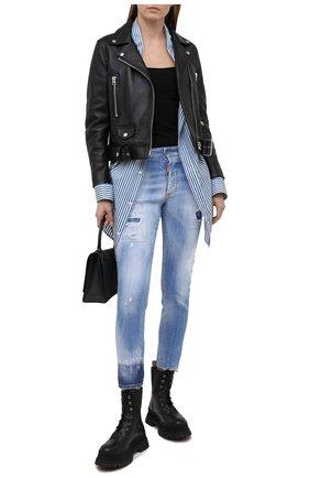 Женские джинсы DSQUARED2 голубого цвета, арт. S75LB0448/S30342 | Фото 2