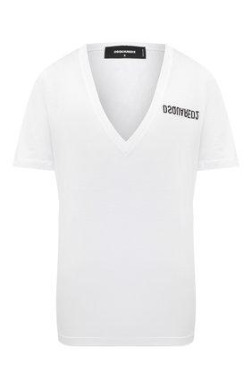 Женская хлопковая футболка DSQUARED2 белого цвета, арт. S75GD0157/S23848 | Фото 1