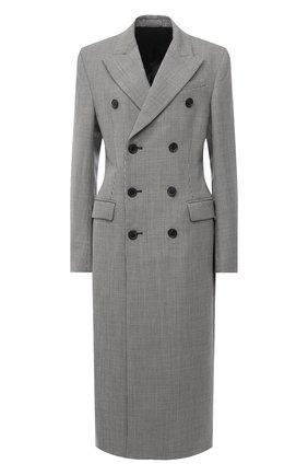 Женское шерстяное пальто WARDROBE.NYC черно-белого цвета, арт. W4010HTR05 | Фото 1 (Длина (верхняя одежда): Длинные; Материал подклада: Купро; Рукава: Длинные; Материал внешний: Шерсть; 1-2-бортные: Двубортные; Стили: Кэжуэл)