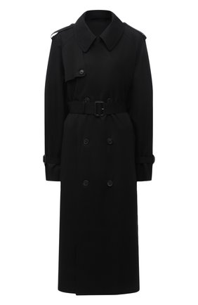 Женский хлопковый тренч WARDROBE.NYC черного цвета, арт. W4009R04 | Фото 1 (Рукава: Длинные; Длина (верхняя одежда): Длинные; Материал внешний: Хлопок; Материал подклада: Купро; Стили: Кэжуэл)