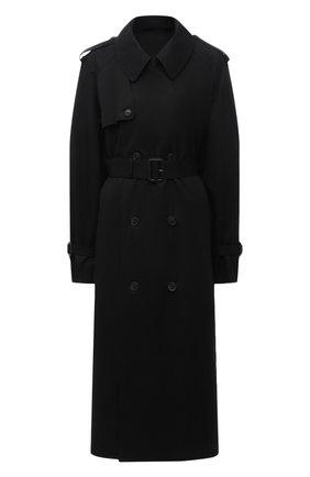 Женский хлопковый тренч WARDROBE.NYC черного цвета, арт. W4009R04 | Фото 1