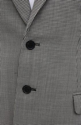 Женский шерстяной жакет WARDROBE.NYC черно-белого цвета, арт. W4015HTPC | Фото 5 (Материал внешний: Шерсть; Рукава: Длинные; Случай: Повседневный; Длина (для топов): Удлиненные; 1-2-бортные: Однобортные; Женское Кросс-КТ: Жакет-одежда; Материал подклада: Купро; Стили: Кэжуэл)